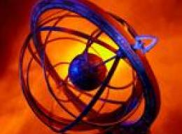 Глобус на красном фоне