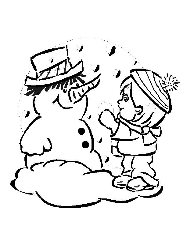 Дети играют в снежки рисунок поэтапно